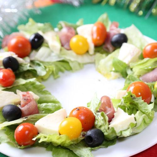 リース風サラダ
