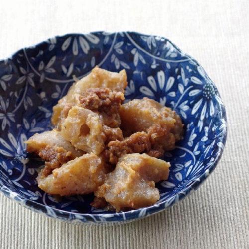 レシピ(手作りこんにゃくと伊賀肉そぼろの炒め煮)
